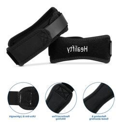 Healifty 1 Pair Soft Black Durable Adjustable Knee Support B