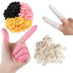 100/300PCS Finger Cots Latex Fingertips Protector Gloves Non