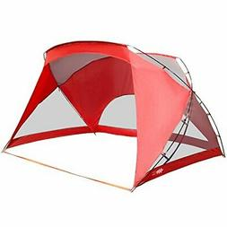 ALPHA CAMP 3 Person Sports/Beach Shelter Easy Up Sun Shade -