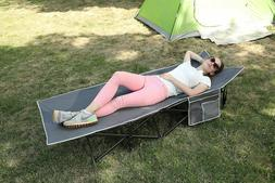 ALPHA CAMP Folding Camping Bed Cot Strong Stable Portable wi