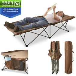 """82"""" Foldable Camping Cot - 300 lb Trundle Travel Bed Hiking"""
