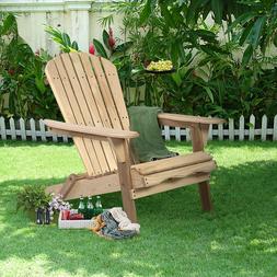 In/Outdoor Adirondack Fir Wood Chair Garden Furniture Lawn P