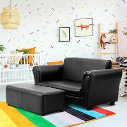 Black Kids Sofa Armrest Chair Couch Lounge Children Birthday