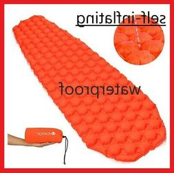 Camping Lightweight Air Pad Easy Inflate Cot Mattress Self i