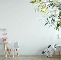 Corner Branch Flower Wall Sticker Nursery Decal Baby Cot Hom
