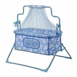 Smart Baby Products Cot-cum-Cradle with mosquito net BLUE CO