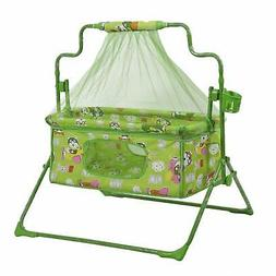 Smart Baby Products Cot-cum-Cradle with mosquito net GREEN C