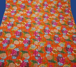 Cotton Throw Sheet Queen Size King SIze Indian Handmade Kant