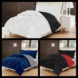 Diamond Quilting Reversible Down Alternative Comforter Set 3