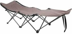 Durable Steel Compact Folding Camping Bed Easy-Setup Collaps