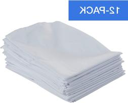 ECR4Kids 12-Pack Standard Cot Sheet with Elastic Straps, Sta