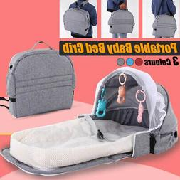 folding baby travel cot infant crib bed