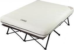Folding Camp Cot & Air Mattress Combo W  Pump & Side
