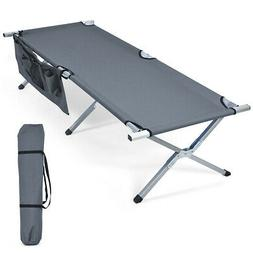 folding camping cot heavy duty camp bed