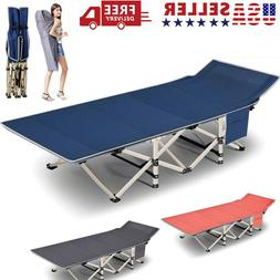 Portable Folding Camping Bed w/Mattress & Carry Bag Military