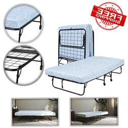 """Folding Guest Bed with 5"""" Mattress, Twin"""