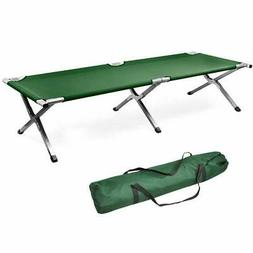 Green Fold up Bed, Folding, Portable for Camping, Military S