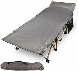 REDCAMP Heavy Duty Folding Camping Cot for Adult Office Wide