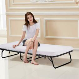 Heavy-duty Twin Folding Portable Guest Bed Rolling Moving Co