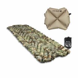 Klymit Insulated Static V Lite Orange Camping Travel Sleeping Pad BRAND NEW