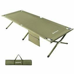 KingCamp Camping Cot Folding Bed for Adults, Foldable Portab