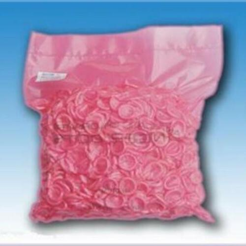 100 pink natural latex rubber finger cots
