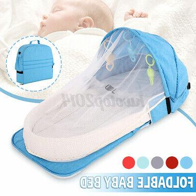 2IN1 Foldable Bed & Backpack Crib Mosquito