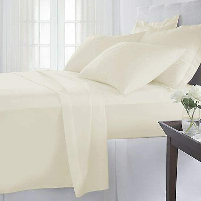 Pizuna Count Cotton Sheets Cream Staple
