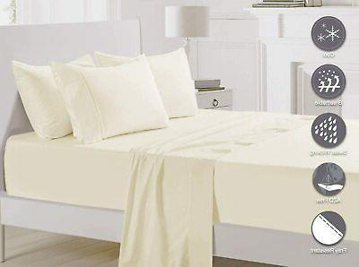 Pizuna 400 Thread Cotton Queen Flat Cream Staple Cot
