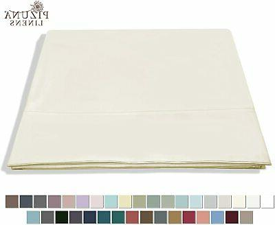 400 thread count cotton queen flat sheets