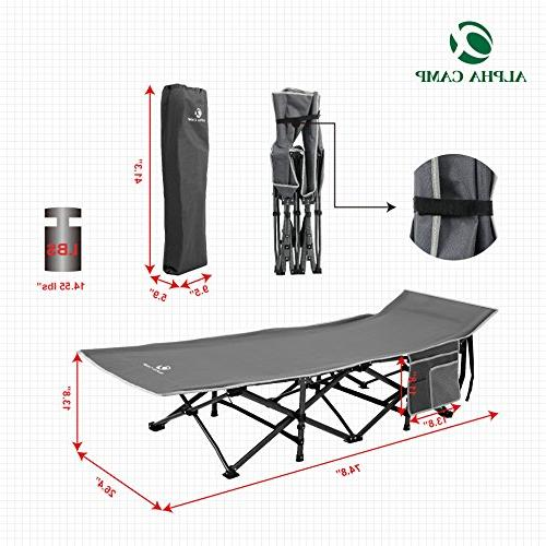 ALPHA CAMP Folding Camping Bed