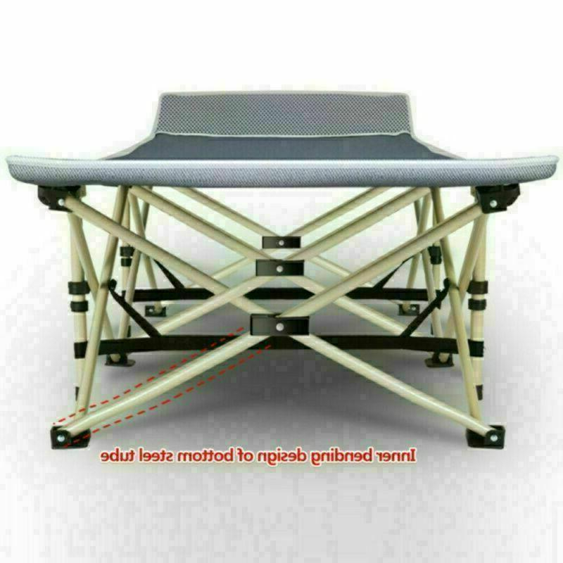 Folding Camping Bed Cot Outdoor Portable Travel Soft