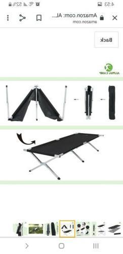 Alpha Camp Aluminum camping cot with