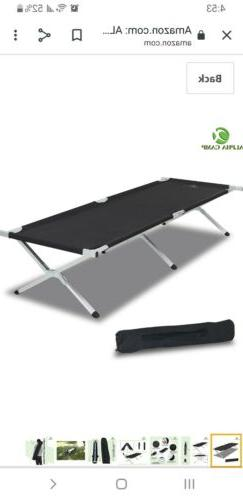 Alpha Camp Aluminum camping cot with carring case