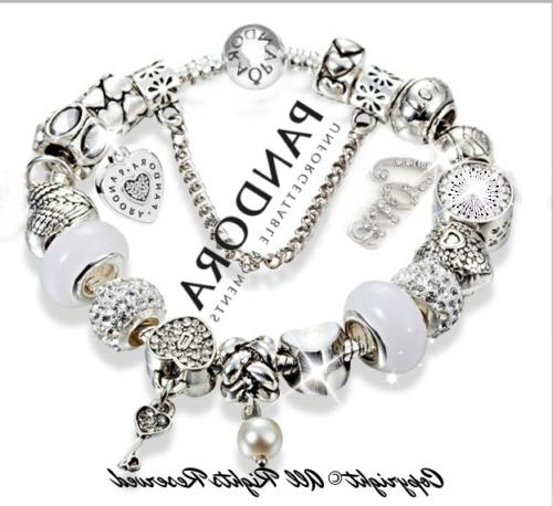 Authentic Pandora Charm Bracelet Silver LOVE STORY with Euro