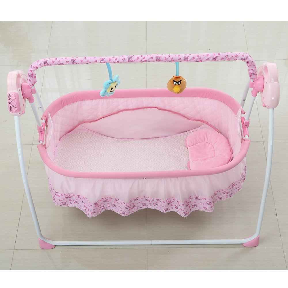 Baby Cot Bassinet Pink Bluetooth