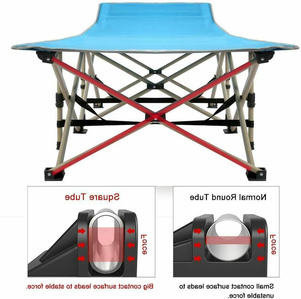 Camping 450LBS, Portable Foldable Outdoor Bed Carry