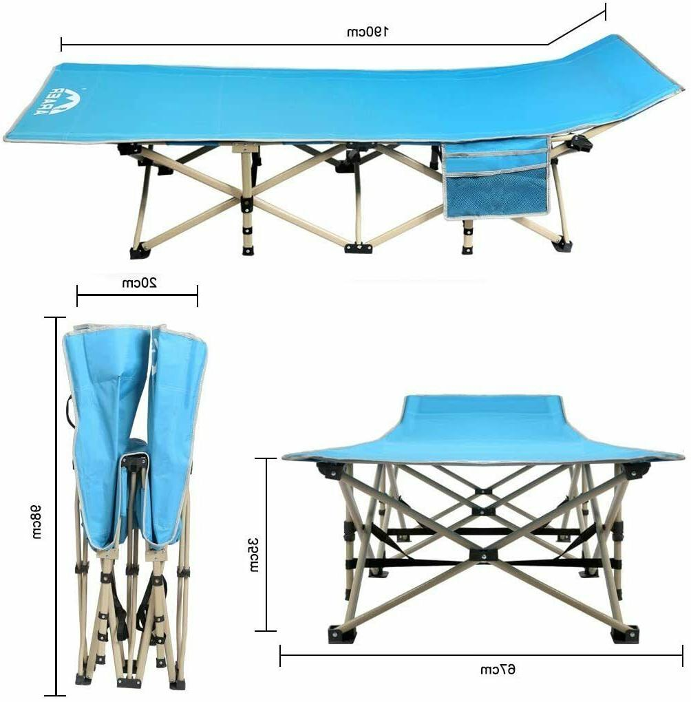 Camping Cot, 450LBS, Foldable Outdoor Carry