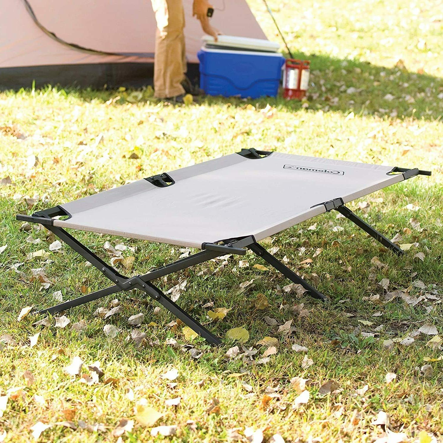 COLEMAN CAMPING COT/TRAILHEAD II FOLDING COT STEEL FRAME/ FREE SHIPPING