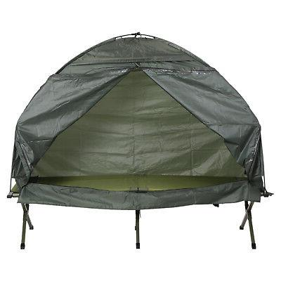 Outsunny Folding Man Travel Cot Bed Tent for Adults