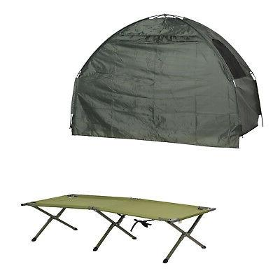 Outsunny Folding Man Camping Cot for Adults