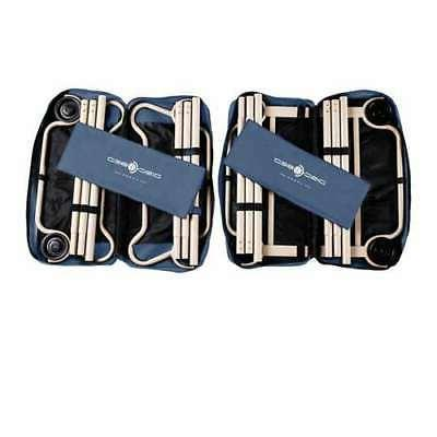 Disc-O-Bed Large Cam-O-Bunk Double w/ Organizers, Navy Blue