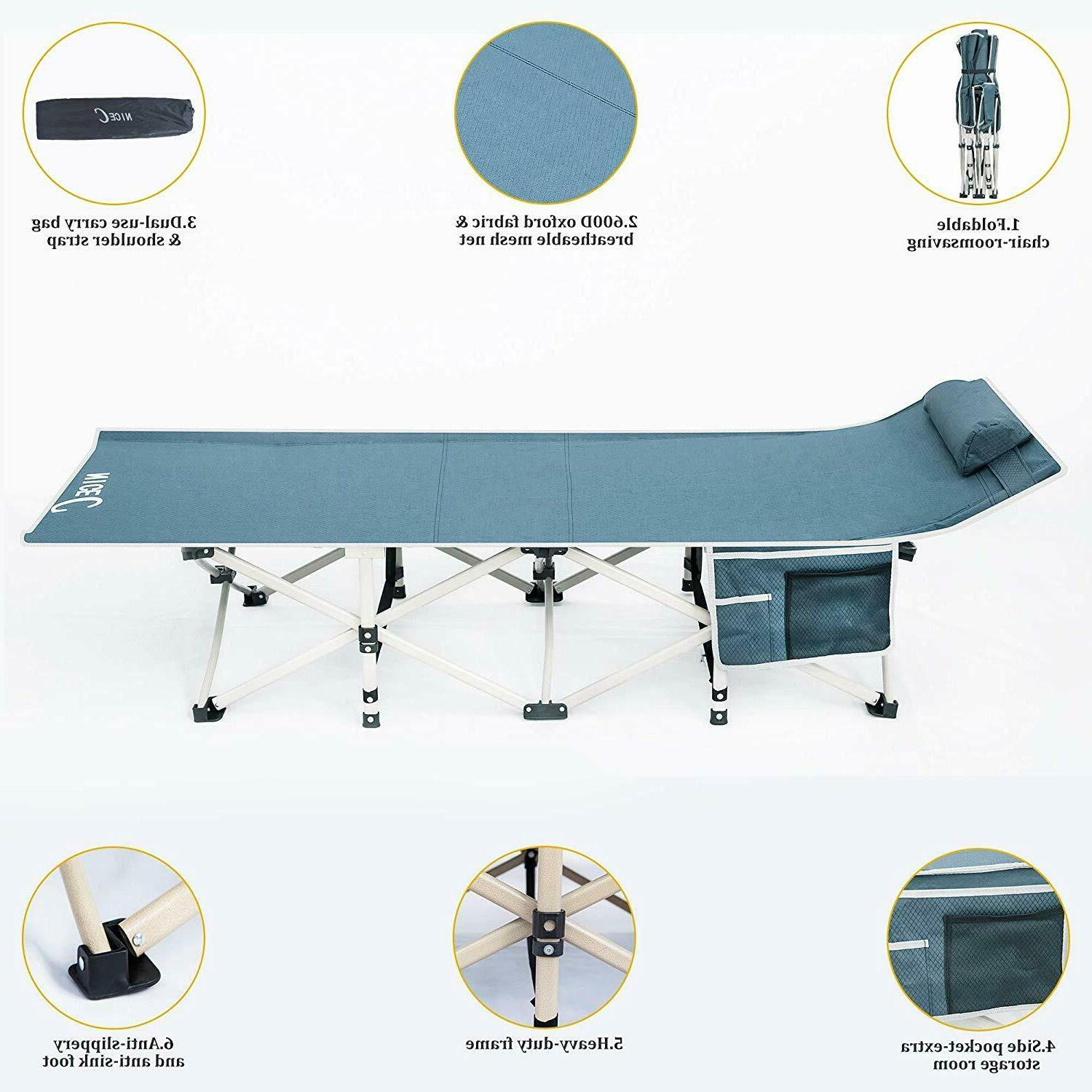 Folding Bed Portable Cot Sleeping Hiking Travel Carry