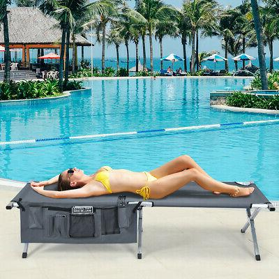 Folding Cot Heavy-duty Camp Bed for Beach