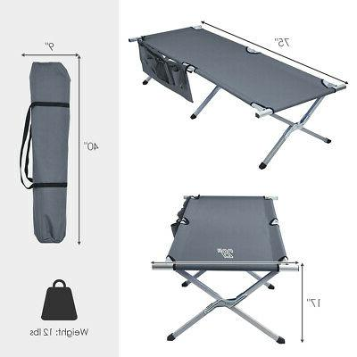 Folding Camping Cot Heavy-duty Camp Bed for Traveling