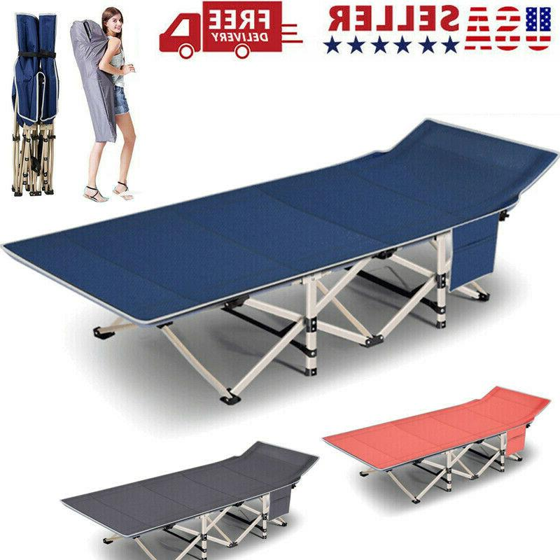 folding camping cot with mattress and carry