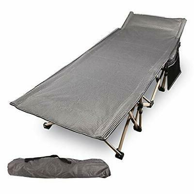 folding camping cots for adults 500lbs double