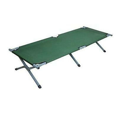Green Fold Bed, Folding, Camping, Military Style w/Bag