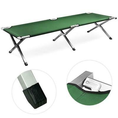 Green Bed, Folding, Portable for Military Style w/Bag