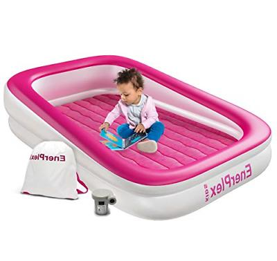 EnerPlex Kids Inflatable Toddler Travel Bed, Portable Air Ma